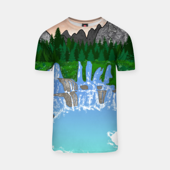 Miniatur Mountains & Whirlpools  T-shirt, Live Heroes