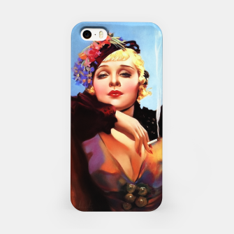 Thumbnail image of Portrait Of Anna Sten by Alberto Vargas iPhone Case, Live Heroes
