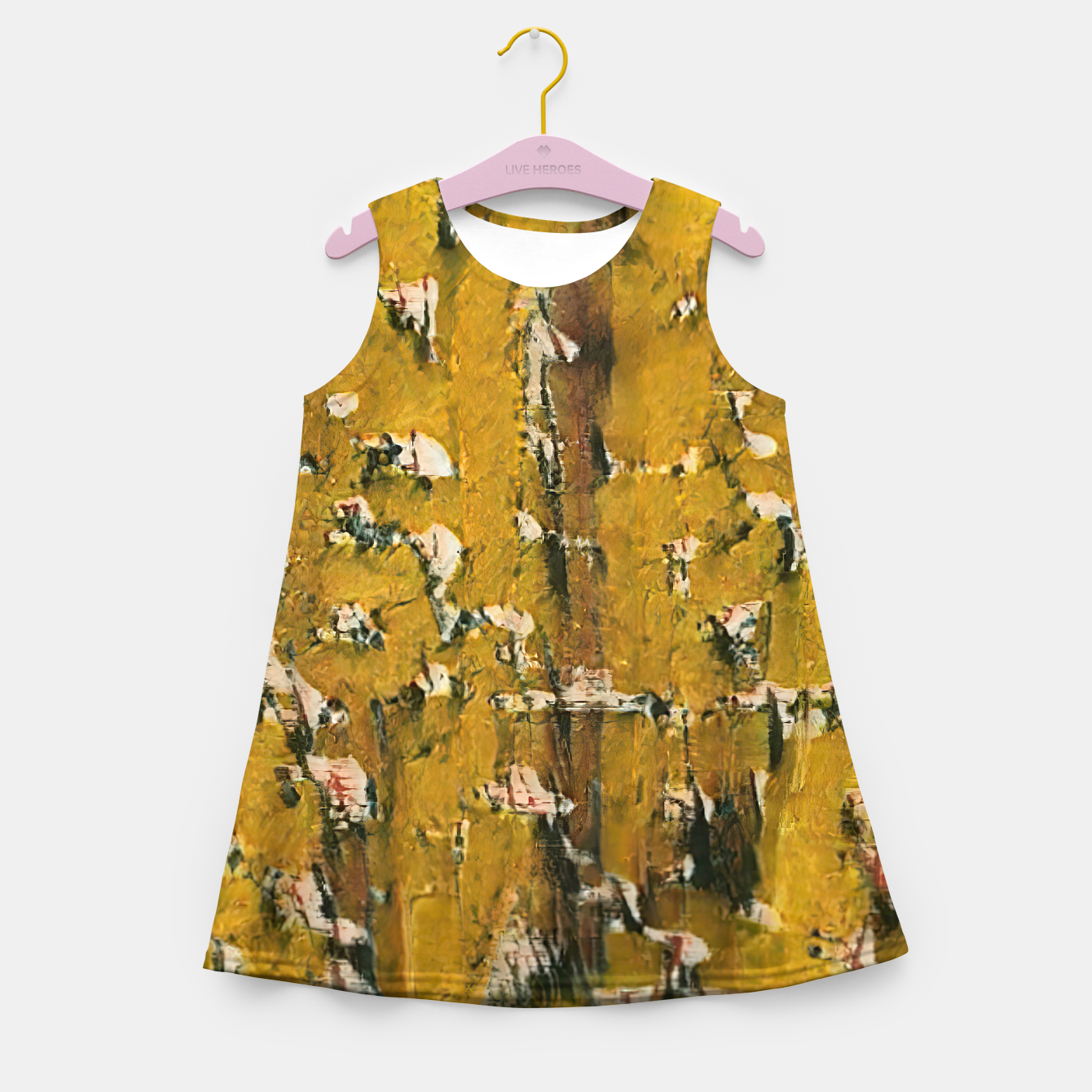 Image of abstract 3 Girl's summer dress - Live Heroes