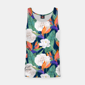 Miniaturka Bird of Paradise, Tropical Botanical Nature, Dark Jungle Illustration, Floral Eclectic Bohemian  Tank Top, Live Heroes