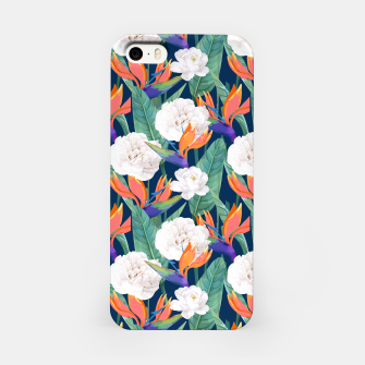 Imagen en miniatura de Bird of Paradise, Tropical Botanical Nature, Dark Jungle Illustration, Floral Eclectic Bohemian  iPhone Case, Live Heroes