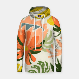 Thumbnail image of Flowers & Rain, Summer Floral Nature Botanical Painting, Modern Colorful Bohemian Illustration  Hoodie, Live Heroes