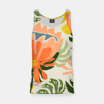 Thumbnail image of Flowers & Rain, Summer Floral Nature Botanical Painting, Modern Colorful Bohemian Illustration  Tank Top, Live Heroes