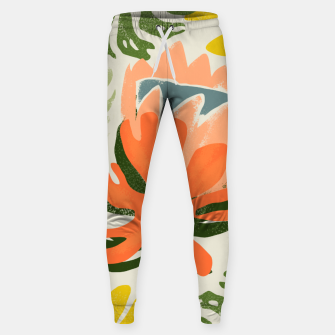 Thumbnail image of Flowers & Rain, Summer Floral Nature Botanical Painting, Modern Colorful Bohemian Illustration  Sweatpants, Live Heroes