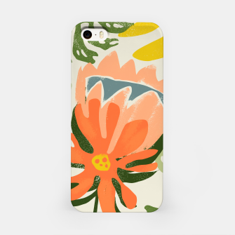 Thumbnail image of Flowers & Rain, Summer Floral Nature Botanical Painting, Modern Colorful Bohemian Illustration  iPhone Case, Live Heroes