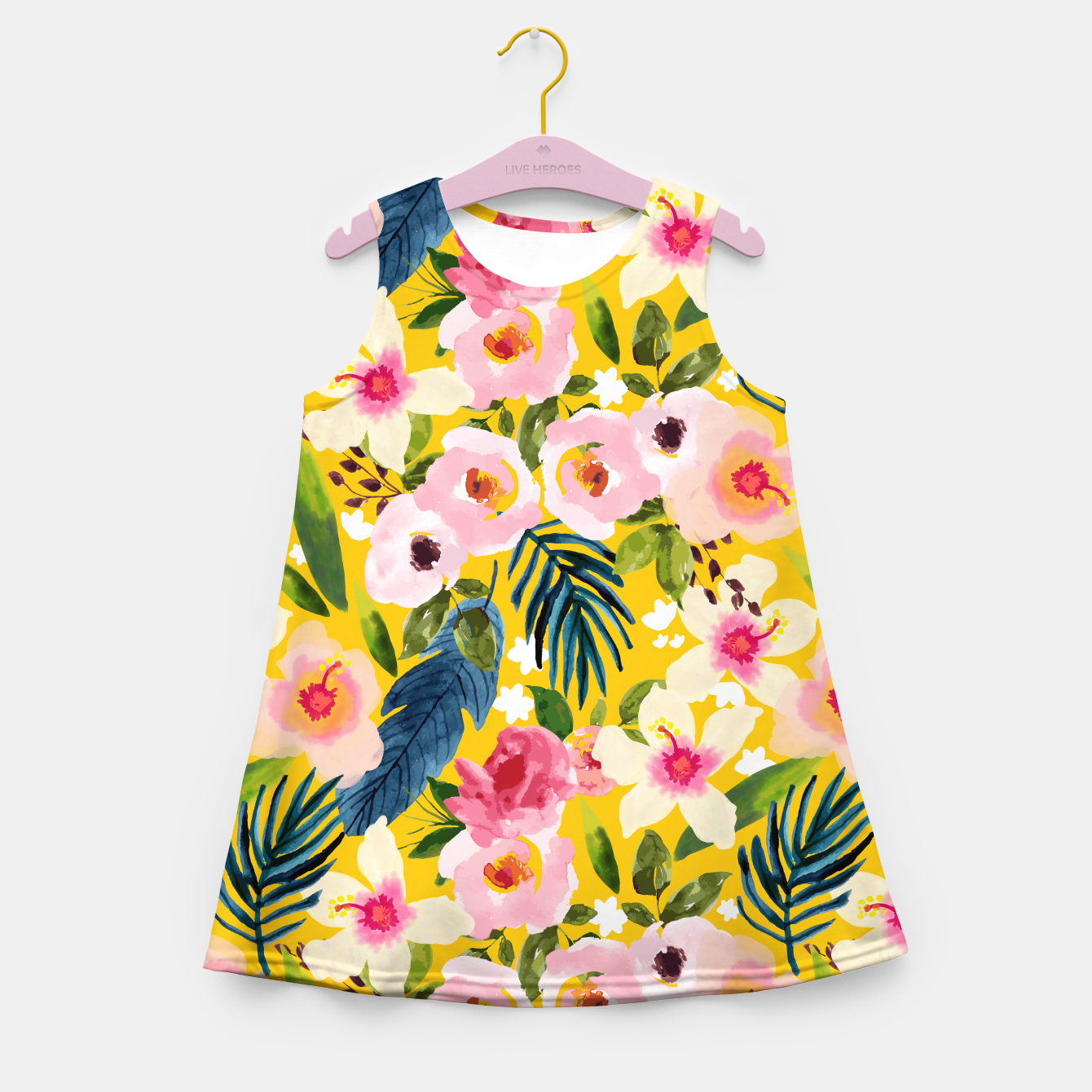 Image of No Winter Lasts Forever; No Spring Skips It's Turn Girl's summer dress - Live Heroes