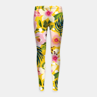 No Winter Lasts Forever; No Spring Skips It's Turn Girl's leggings thumbnail image