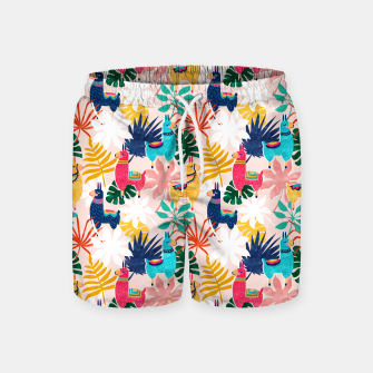 Thumbnail image of Keep Being Llamazing Swim Shorts, Live Heroes