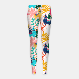 Thumbnail image of Keep Being Llamazing Girl's leggings, Live Heroes