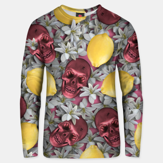 Miniature de image de Pink Skull, lemons and flowers Unisex sweater, Live Heroes