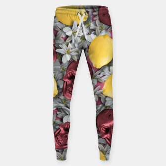Miniature de image de Pink Skull, lemons and flowers Sweatpants, Live Heroes