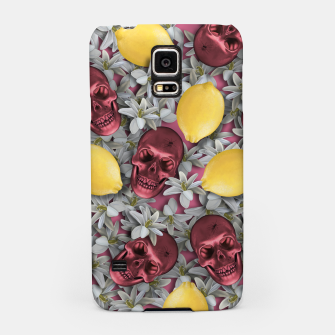 Thumbnail image of Pink Skull, lemons and flowers Samsung Case, Live Heroes