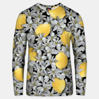 Lemons and Flowers Unisex sweater Bild der Miniatur