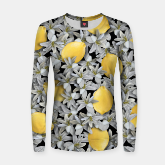 Lemons and Flowers Women sweater Bild der Miniatur