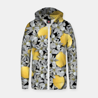 Lemons and Flowers Zip up hoodie Bild der Miniatur