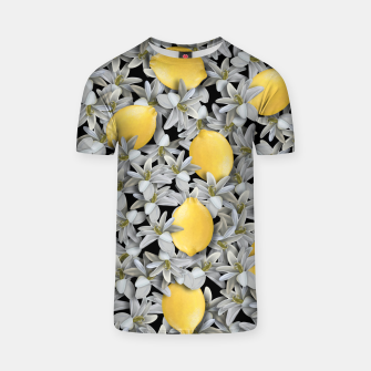 Lemons and Flowers T-shirt Bild der Miniatur