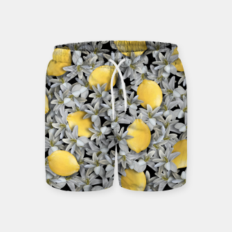 Lemons and Flowers Swim Shorts Bild der Miniatur
