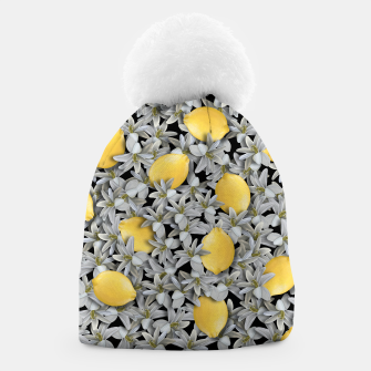 Lemons and Flowers Beanie Bild der Miniatur