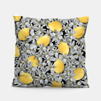Lemons and Flowers Pillow Bild der Miniatur