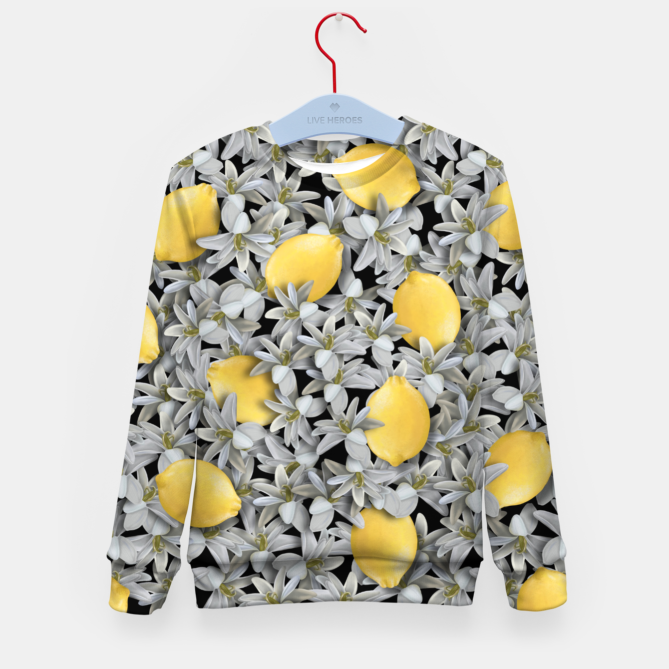 Image of  Lemons and Flowers Kid's sweater - Live Heroes