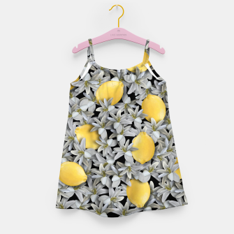 Lemons and Flowers Girl's dress Bild der Miniatur