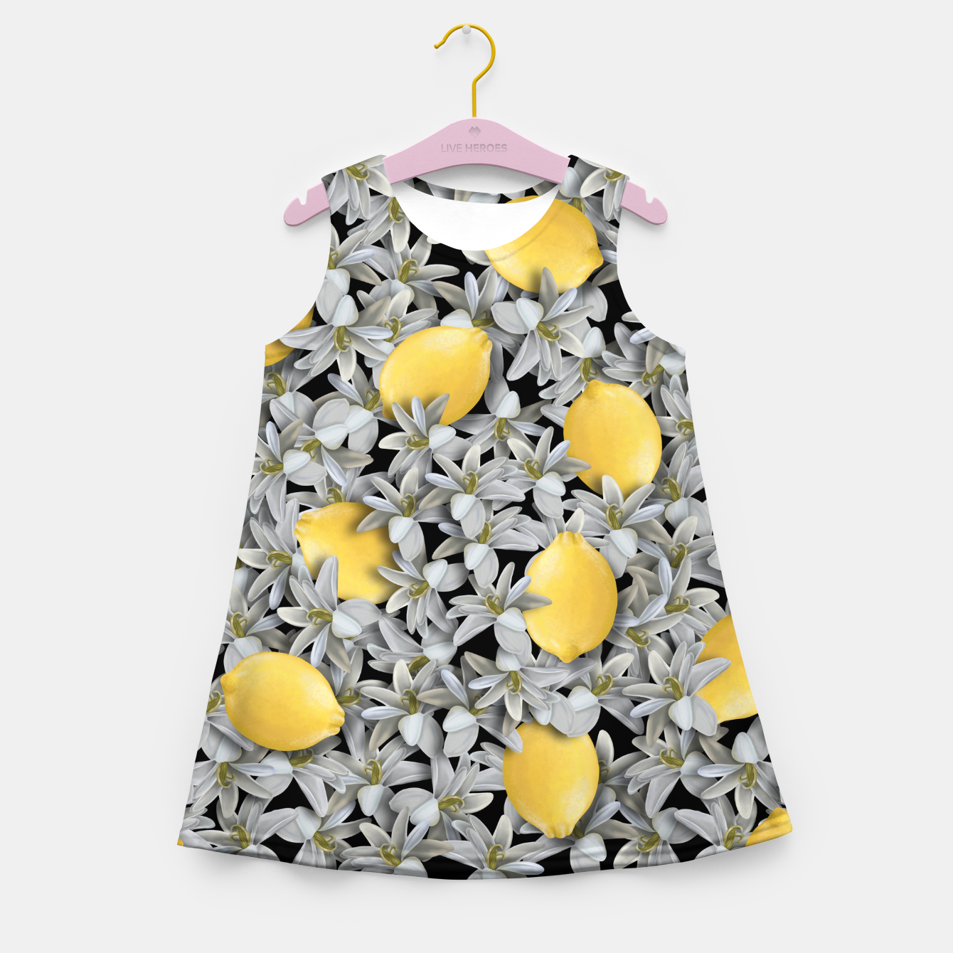 Foto  Lemons and Flowers Girl's summer dress - Live Heroes