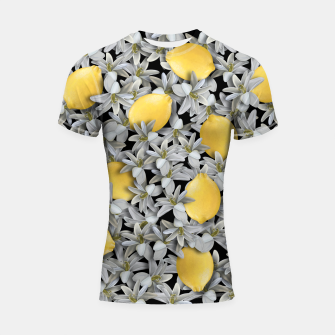 Lemons and Flowers Shortsleeve rashguard Bild der Miniatur