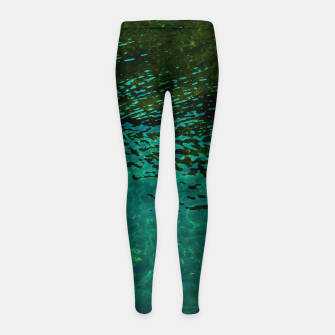 Thumbnail image of Emerald Girl's leggings, Live Heroes