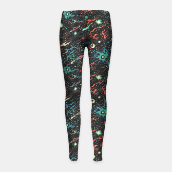 Miniatur Racing through the universe  Girl's leggings, Live Heroes