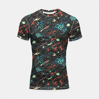 Miniatur Racing through the universe  Shortsleeve rashguard, Live Heroes