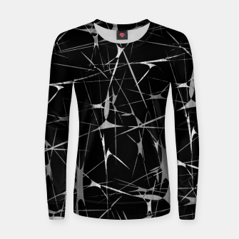 Miniatur Black and White Splatter Abstract Print Women sweater, Live Heroes