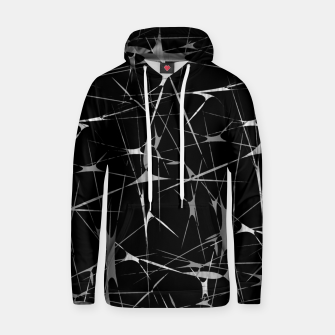Imagen en miniatura de Black and White Splatter Abstract Print Hoodie, Live Heroes