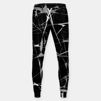 Thumbnail image of Black and White Splatter Abstract Print Sweatpants, Live Heroes