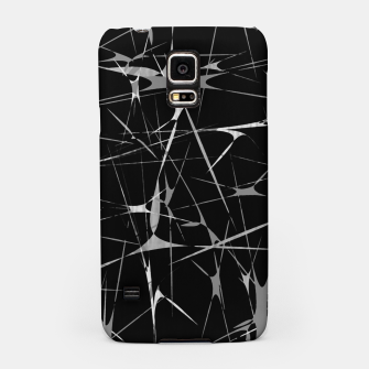 Miniatur Black and White Splatter Abstract Print Samsung Case, Live Heroes