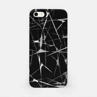 Miniatur Black and White Splatter Abstract Print iPhone Case, Live Heroes