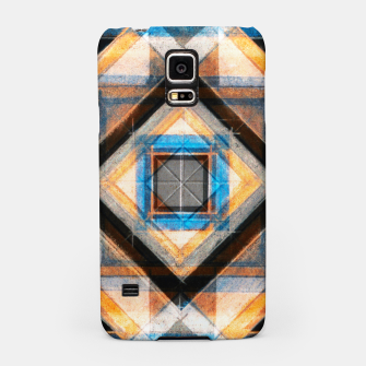 Miniaturka Hand Made Edited Pencil Geometry in Blue, Orange and Black Samsung Case, Live Heroes