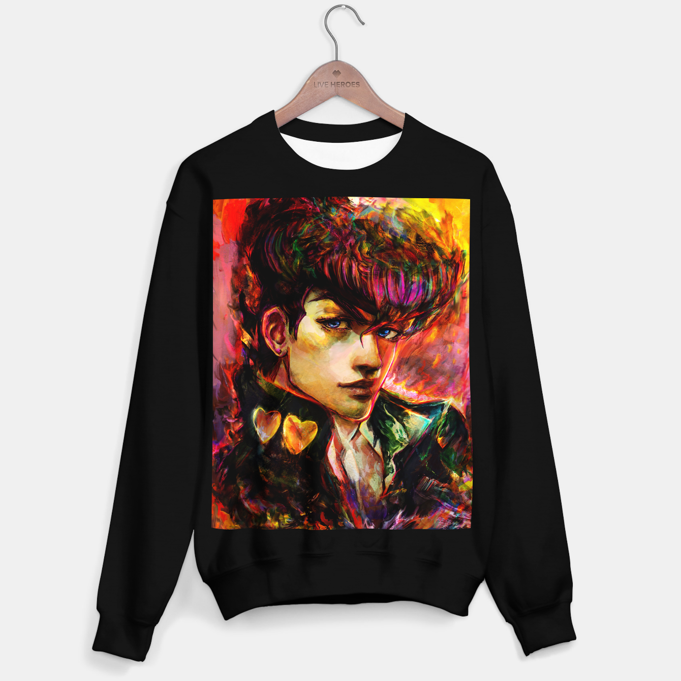 Image of jojo bizarre adventure josuke Sweater regular - Live Heroes