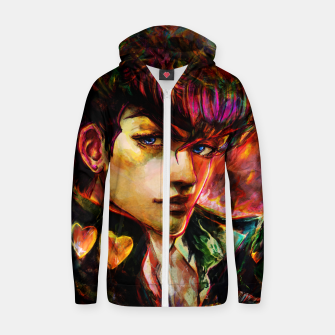 Thumbnail image of jojo bizarre adventure josuke Zip up hoodie, Live Heroes