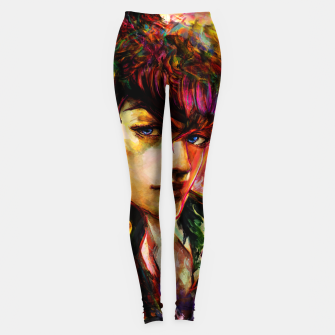 Thumbnail image of jojo bizarre adventure josuke Leggings, Live Heroes