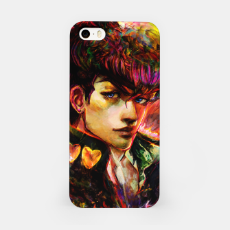 Thumbnail image of jojo bizarre adventure josuke iPhone Case, Live Heroes