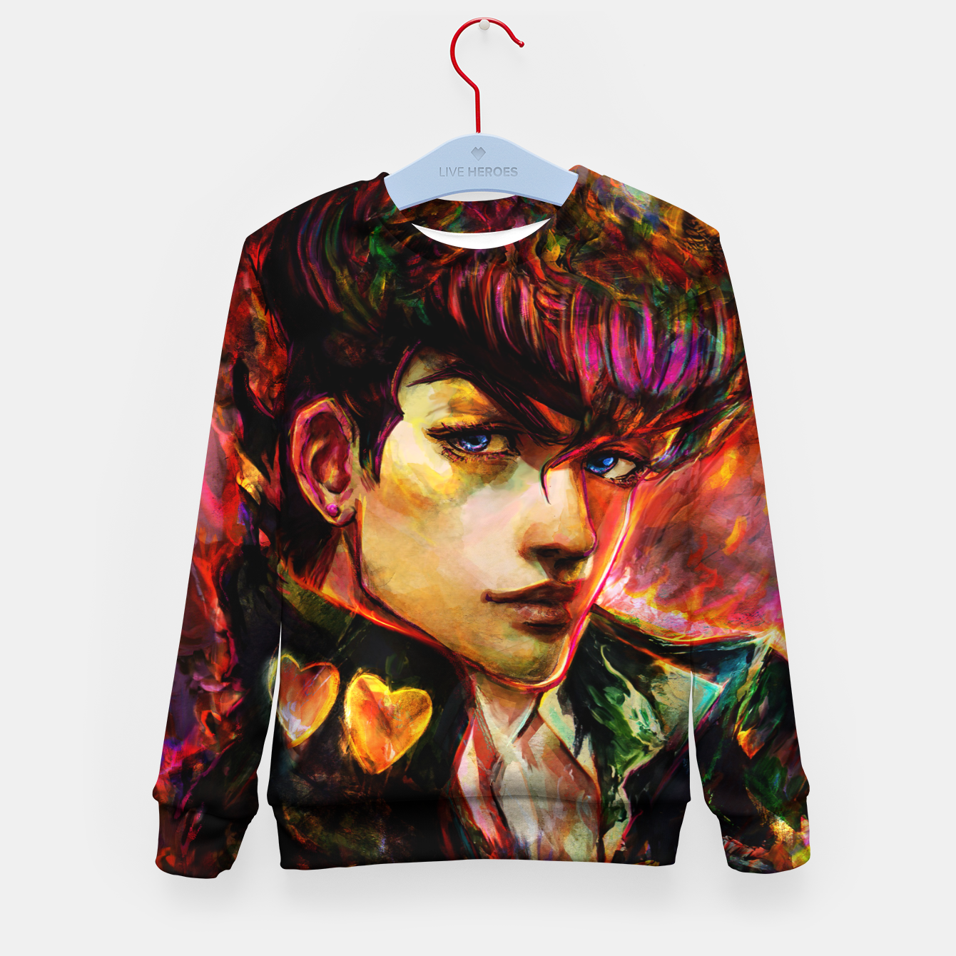 Image of jojo bizarre adventure josuke Kid's sweater - Live Heroes