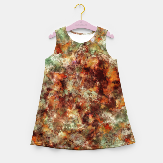 Submerged leaves Girl's summer dress thumbnail image