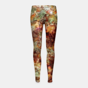 Submerged leaves Girl's leggings thumbnail image