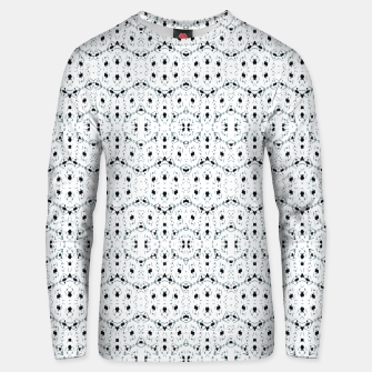 Thumbnail image of Modern Geometric Black and White Pattern Unisex sweater, Live Heroes