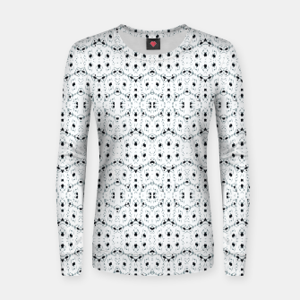Miniatur Modern Geometric Black and White Pattern Women sweater, Live Heroes