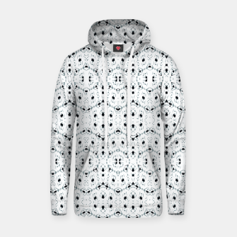 Thumbnail image of Modern Geometric Black and White Pattern Hoodie, Live Heroes