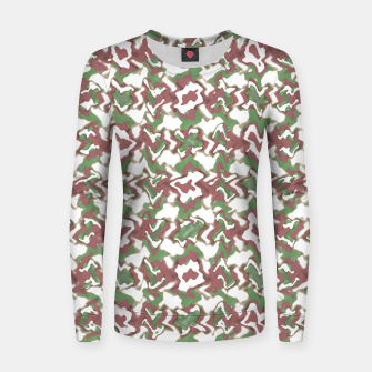Thumbnail image of Multicolored Texture Print Pattern Women sweater, Live Heroes