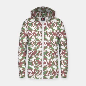 Thumbnail image of Multicolored Texture Print Pattern Zip up hoodie, Live Heroes