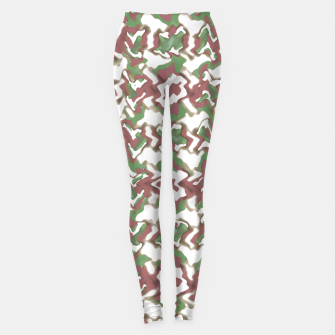 Miniature de image de Multicolored Texture Print Pattern Leggings, Live Heroes