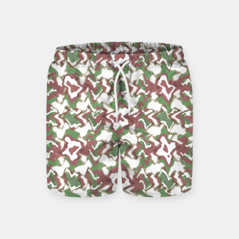 Miniature de image de Multicolored Texture Print Pattern Swim Shorts, Live Heroes